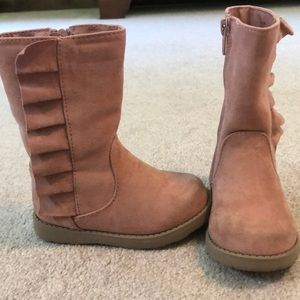 Cat & Jack pink toddler boots